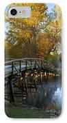 Old North Bridge Concord IPhone Case by Brian Jannsen