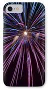 4th Of July 2014 Fireworks Bridgeport Hill Clarksburg Wv 1 IPhone Case by Howard Tenke