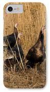 Eastern Wild Turkeys IPhone Case by Linda Freshwaters Arndt