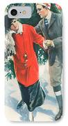 Christmas Card IPhone Case by American School