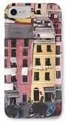 A Bird's Eye View Of Cinque Terre IPhone Case by Quin Sweetman