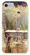 A Boy Fishing IPhone Case by Jt PhotoDesign