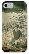 A Boy IPhone Case by Jasna Buncic