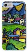 A Folksy Swiss Town IPhone Case by Monica Engeler