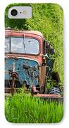 Abandoned Truck In Rural Michigan IPhone Case by Adam Romanowicz