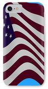 Abstract Burgundy Grey Violet 50 Star American Flag Flying Cropped IPhone Case by L Brown