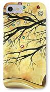 Abstract Art Metallic Gold Original Landscape Painting Colorful Diamond Jubilee By Madart IPhone Case by Megan Duncanson