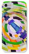 Abstract Circles IPhone Case by Susan Leggett