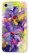 abstract Flower botanical watercolor painting print IPhone Case by Svetlana Novikova