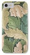 Acanthus Wallpaper Design IPhone Case by William Morris