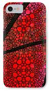 Ah - Red Stone Rock'd Art By Sharon Cummings IPhone Case by Sharon Cummings