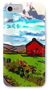 Ah...west Virginia Line Art IPhone Case by Steve Harrington