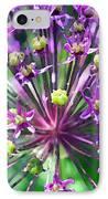 Allium Series - Close Up IPhone Case by Moon Stumpp