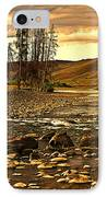 Along The Larmar River IPhone Case by Marty Koch