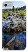 Alpine Stream Beartooth Mounain Range IPhone Case by Edward Fielding