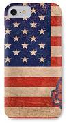 American Flag Made In China IPhone Case by Tony Rubino
