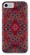Americana Swirl Banner 1 IPhone Case by Sarah Loft