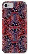 Americana Swirl Design 3 IPhone Case by Sarah Loft