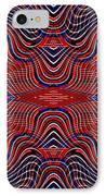 Americana Swirl Design 9 IPhone Case by Sarah Loft