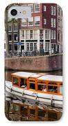 Amsterdam Canal And Houses IPhone Case by Artur Bogacki