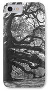 Angel Oak II - Black And White IPhone Case by Suzanne Gaff