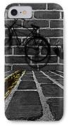 Another Bike On The Wall IPhone Case by Barbara St Jean