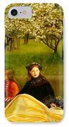 Apple Blossoms IPhone Case by John Everette Millais
