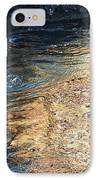 As The Ocean Wave Swirled It Looked Like Gold IPhone Case by Artist and Photographer Laura Wrede