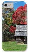 Autum For A Mountain Home IPhone Case by Skip Willits