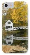 Autumn Colors At Somesville Bridge Mount Desert Island Maine IPhone Case by Lena Hatch