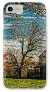 Autumn Farm House IPhone Case by Lara Ellis