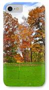 Autumn Golf IPhone Case by Frozen in Time Fine Art Photography