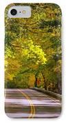 Autumn Road IPhone Case by Carol Groenen