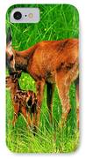 Aww Mom IPhone Case by Benjamin Yeager