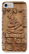 Aztec Woodcarving Tablets IPhone Case by Viktor Savchenko