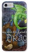 Baby Dragon IPhone Case by Evie Cook