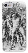 Bacchanal With Silenus - Albrecht Durer IPhone Case by Daniel Hagerman