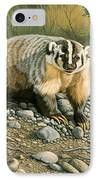 Badger   IPhone Case by Paul Krapf