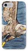 Bald Eagle Fishing  IPhone Case by Aaron Spong