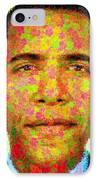 Barack Obama - Maple Leaves IPhone Case by Samuel Majcen