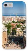Barcelona Park Guell Antoni Gaudi IPhone Case by Matthias Hauser