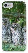 Barred Owlets Nursery IPhone Case by Jennie Marie Schell