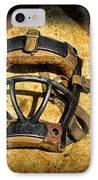 Baseball Catchers Mask Vintage  IPhone Case by Paul Ward
