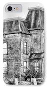 Bates Motel Haunted House Black And White IPhone Case by Paul W Sharpe Aka Wizard of Wonders