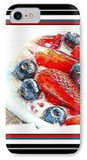 Berries And Yogurt Illustration - Food - Kitchen IPhone Case by Barbara Griffin
