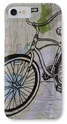 Bike 6 On Map IPhone Case by William Cauthern