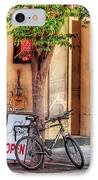 Bike - The Music Store IPhone Case by Mike Savad