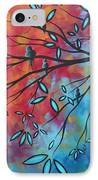 Birds And Blossoms By Madart IPhone Case by Megan Duncanson