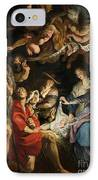 Birth Of Christ Adoration Of The Shepherds IPhone Case by Peter Paul Rubens