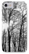 Black And White Forest IPhone Case by Dawdy Imagery